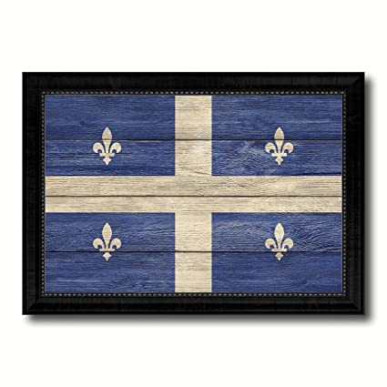 Amazon Com Quebec City Canada Flag Texture Canvas Print Black