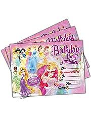 Invitations 20 x Disney Princess Kids Birthday Party Invites Cards Quality Girls