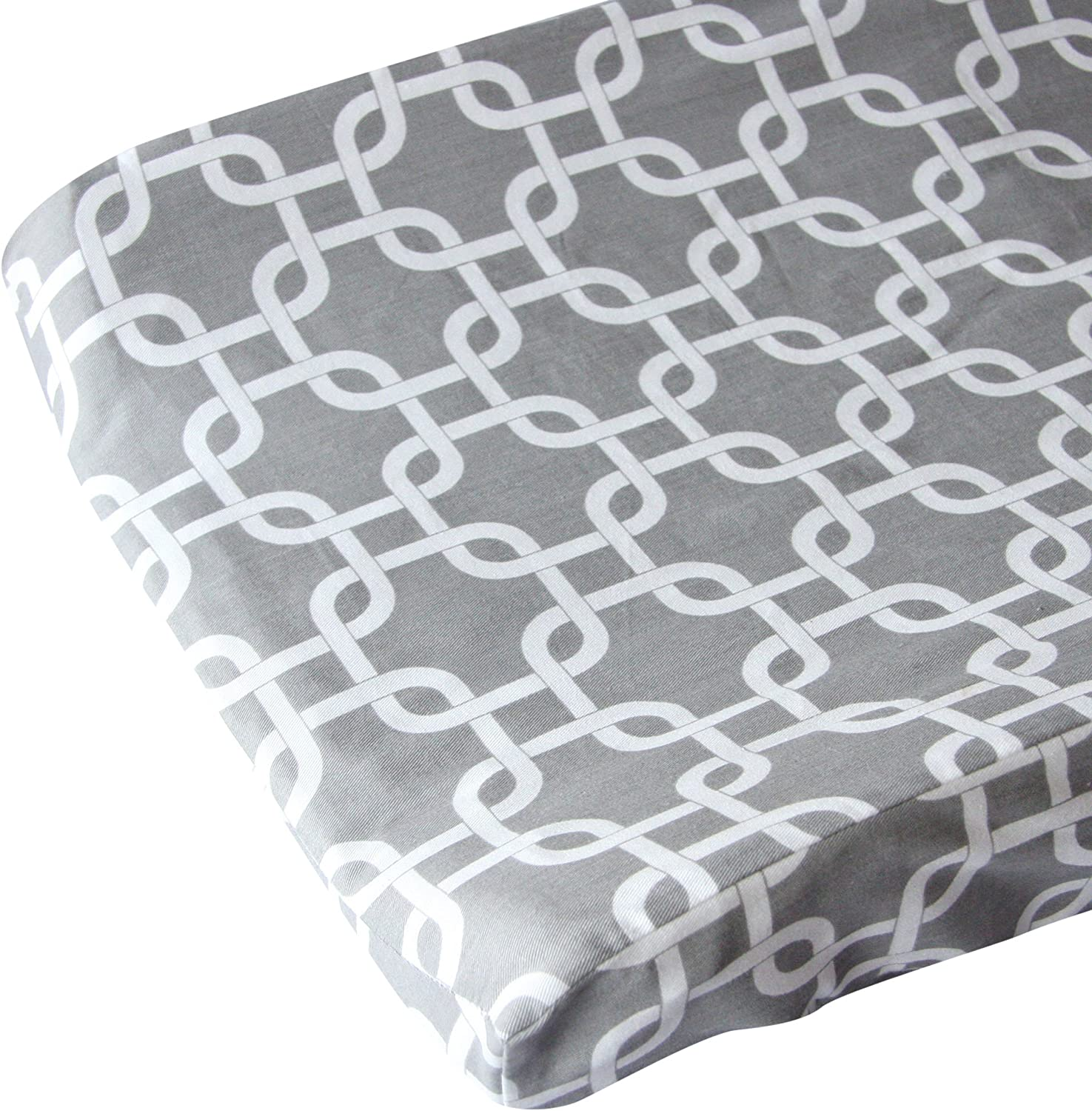 Caden Lane Changing Pad Cover, Gray Bright Baby by Caden Lane
