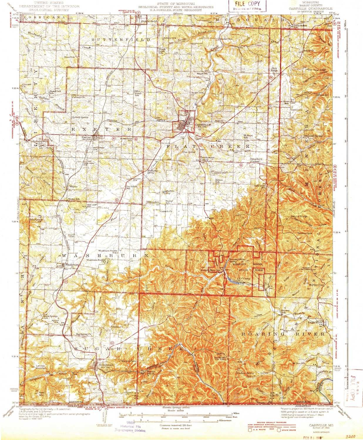 Amazon Com Yellowmaps Cassville Mo Topo Map 1 62500 Scale 15 X