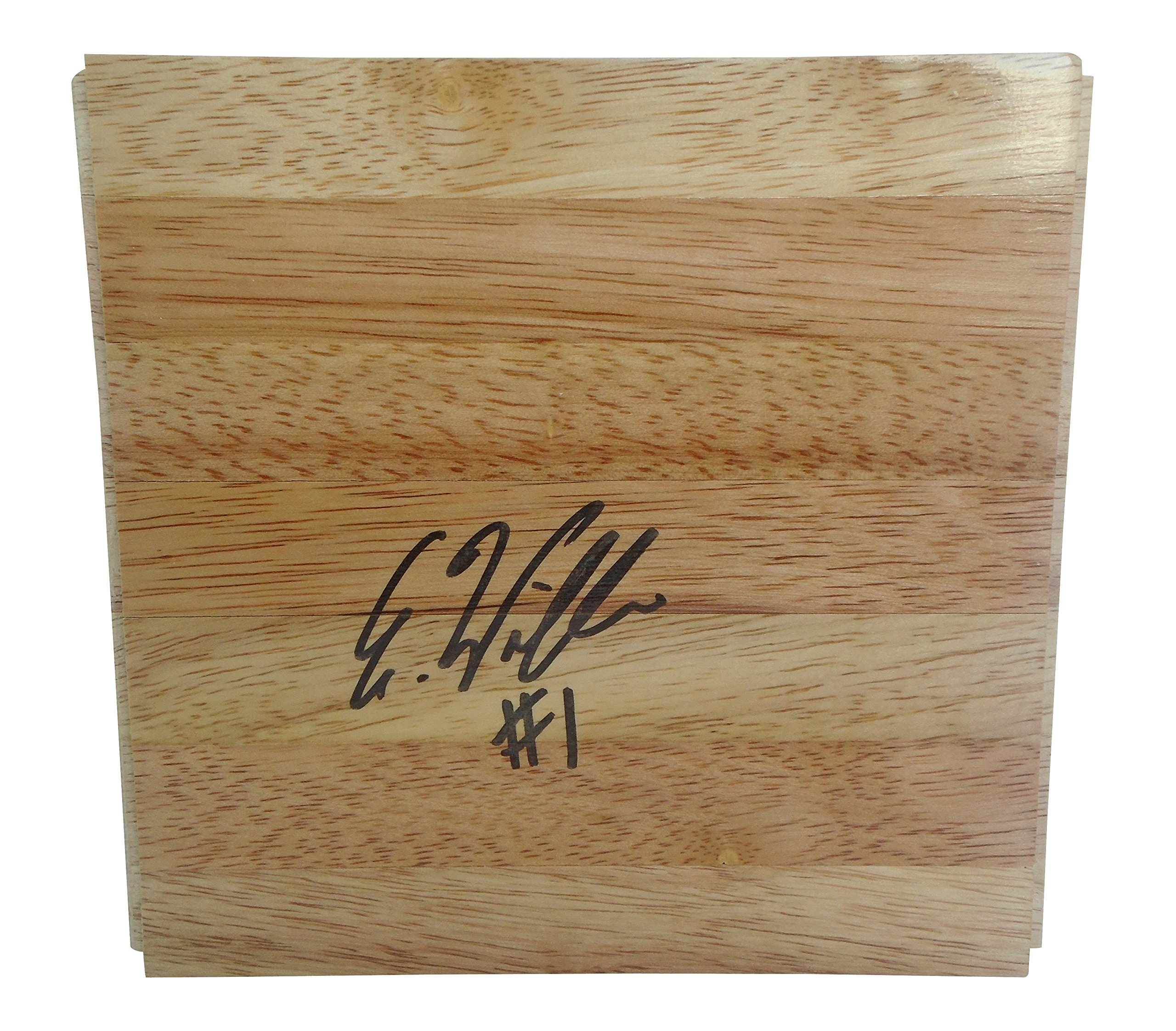 Atlanta Dream Elizabeth Williams Autographed Hand Signed 6x6 Parquet Floorboard with Proof Photo of Signing, Team USA, Connecticut Sun, Duke Blue Devils, COA Basketball Floor Boards