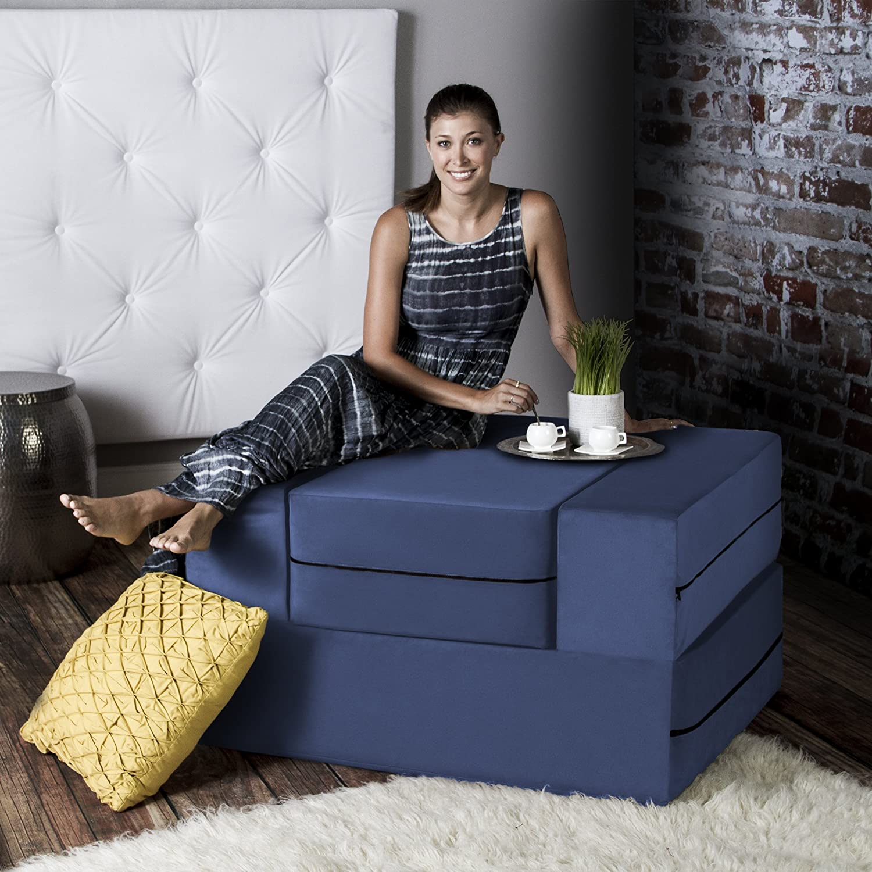Superieur Amazon.com: Jaxx Bean Bags Jaxx Zipline Convertible Sleeper Futon Chair U0026  Ottoman With Machine Washable Cover, Marine: Kitchen U0026 Dining