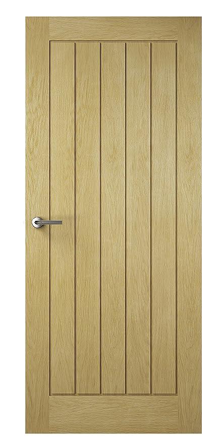 Premdor 82408 626 X 2040 X 40 Mm Croft Solid Interior Door Oak