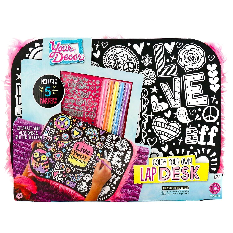 Your Decor Color Your Own Doodle Lap Desk Kit Horizon Group 765940492512