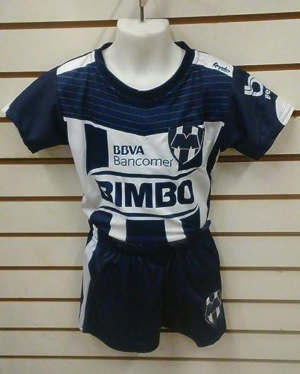 3433a3e0c2382 Amazon.com : New! Monterrey rayados Replica Youth Jersey & Shorts ...