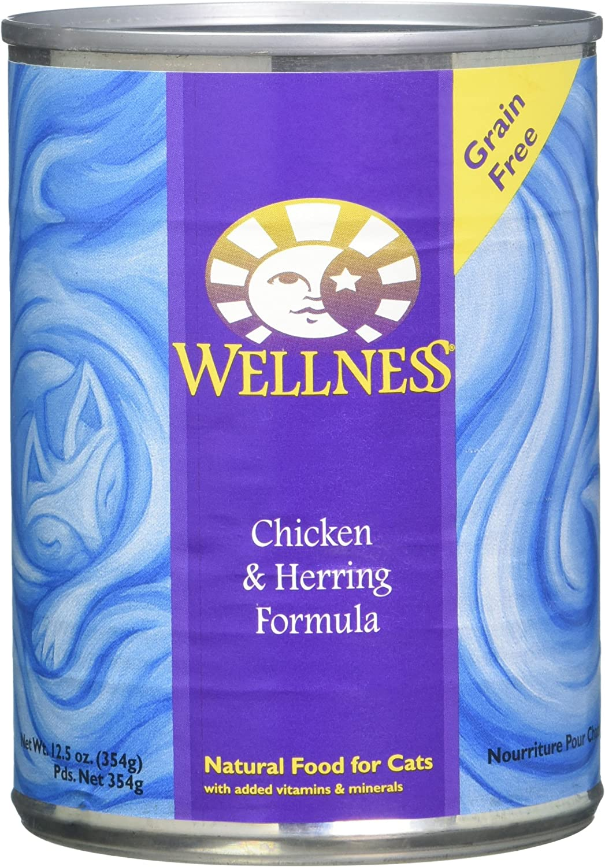 Wellness Chicken & Herring Cat Can 12.5Oz