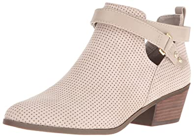 Dr. Scholl's Shoes Women's Baxter Ankle Bootie, Taupe Perforated, ...