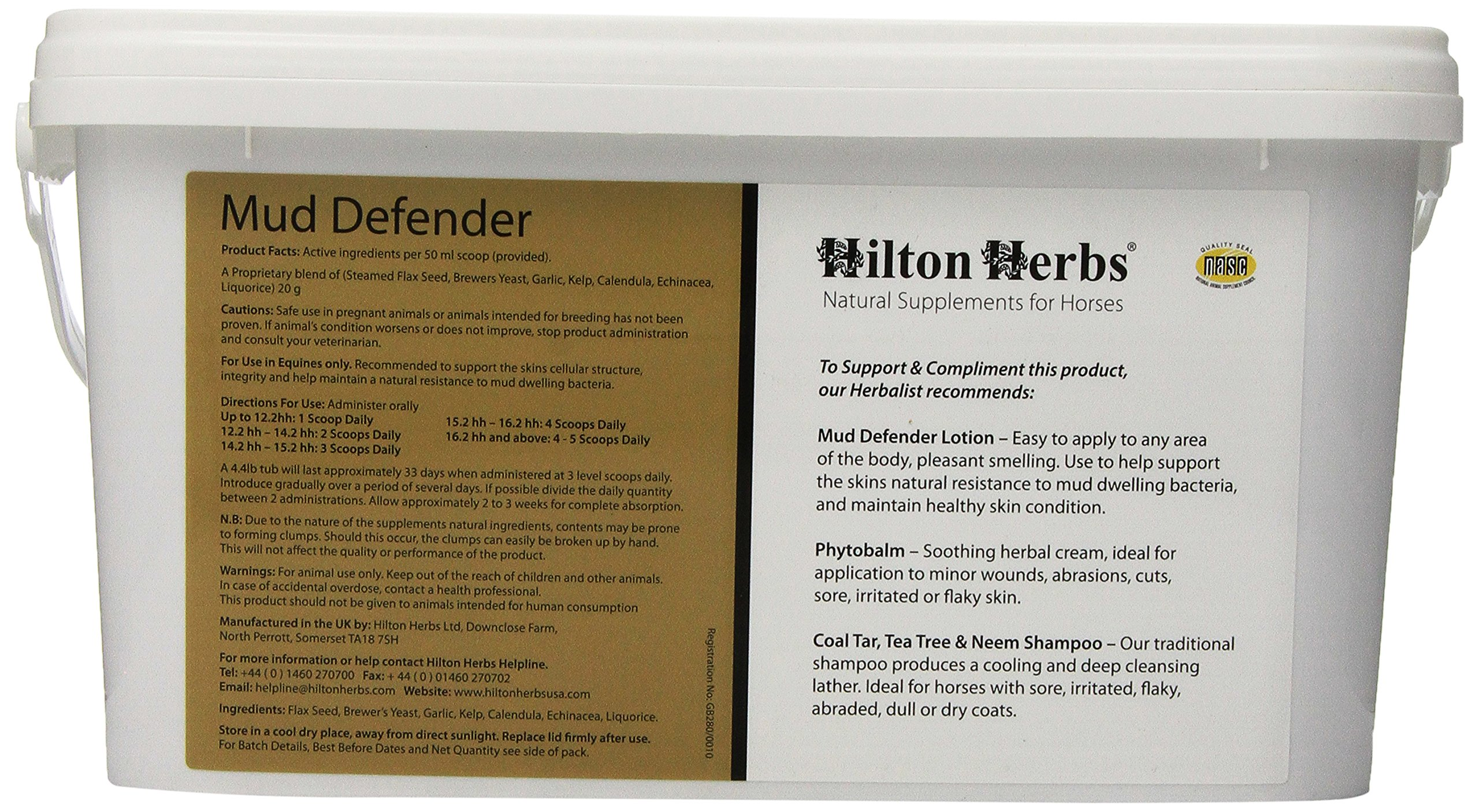 Hilton Herbs Mud Defender Tub Bacteria Resistant Support for Horses, 2kg Tub by Hilton Herbs (Image #3)