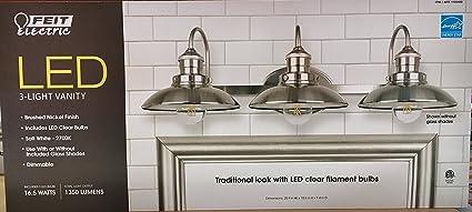 Amazon led 3 light vanity 1350 lumens feit electric home led 3 light vanity 1350 lumens feit electric aloadofball Choice Image