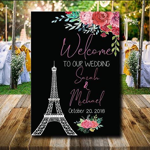 Dozili - Cartel de Bienvenida para Boda, diseño de Flores ...