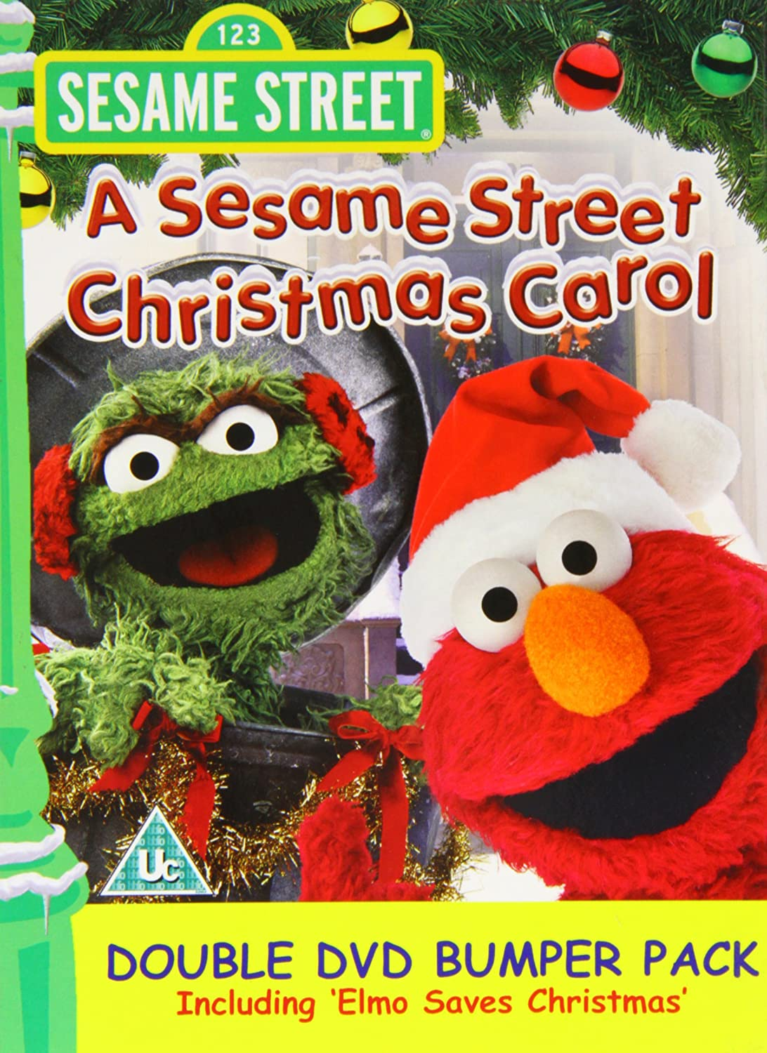 sesame street christmas carolelmo saves christmas double amazoncouk dvd blu ray - Sesame Street Elmo Saves Christmas