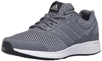 adidas Originals Men's Mana Bounce M Running Shoe, Grey/Metallic  Silver/Black,