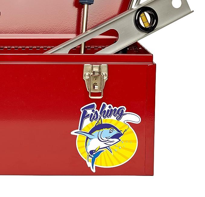 2 x Fish Vinyl Sticker Car Travel Luggage #9541