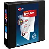 "Avery Heavy-Duty View Binder, 3"" One-Touch Rings, 670-Sheet Capacity, DuraHinge Black (79693)"
