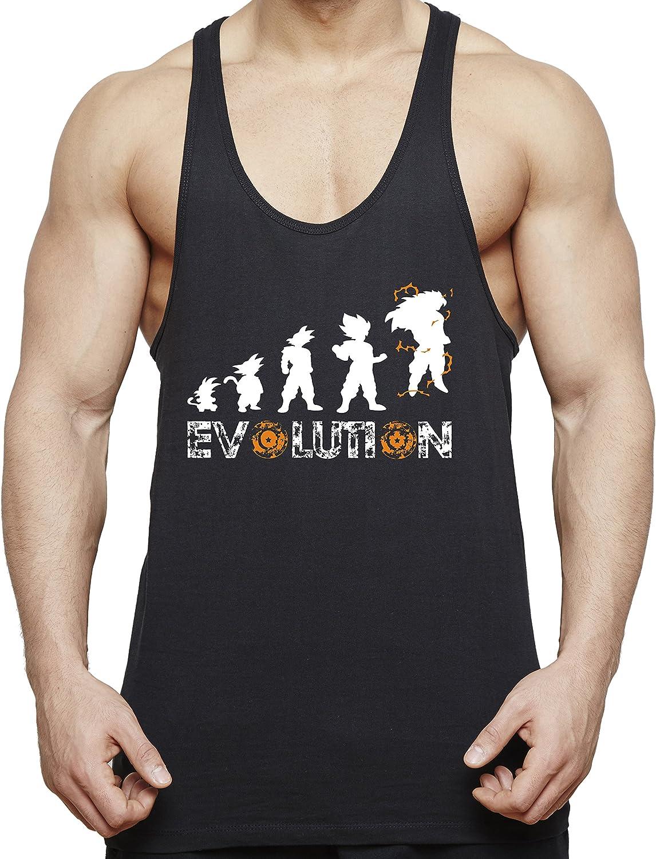 WhyKiki Evolution Son Goku Camiseta de Tirantes para Hombre Dragon Master Ball Vegeta Turtle Roshi