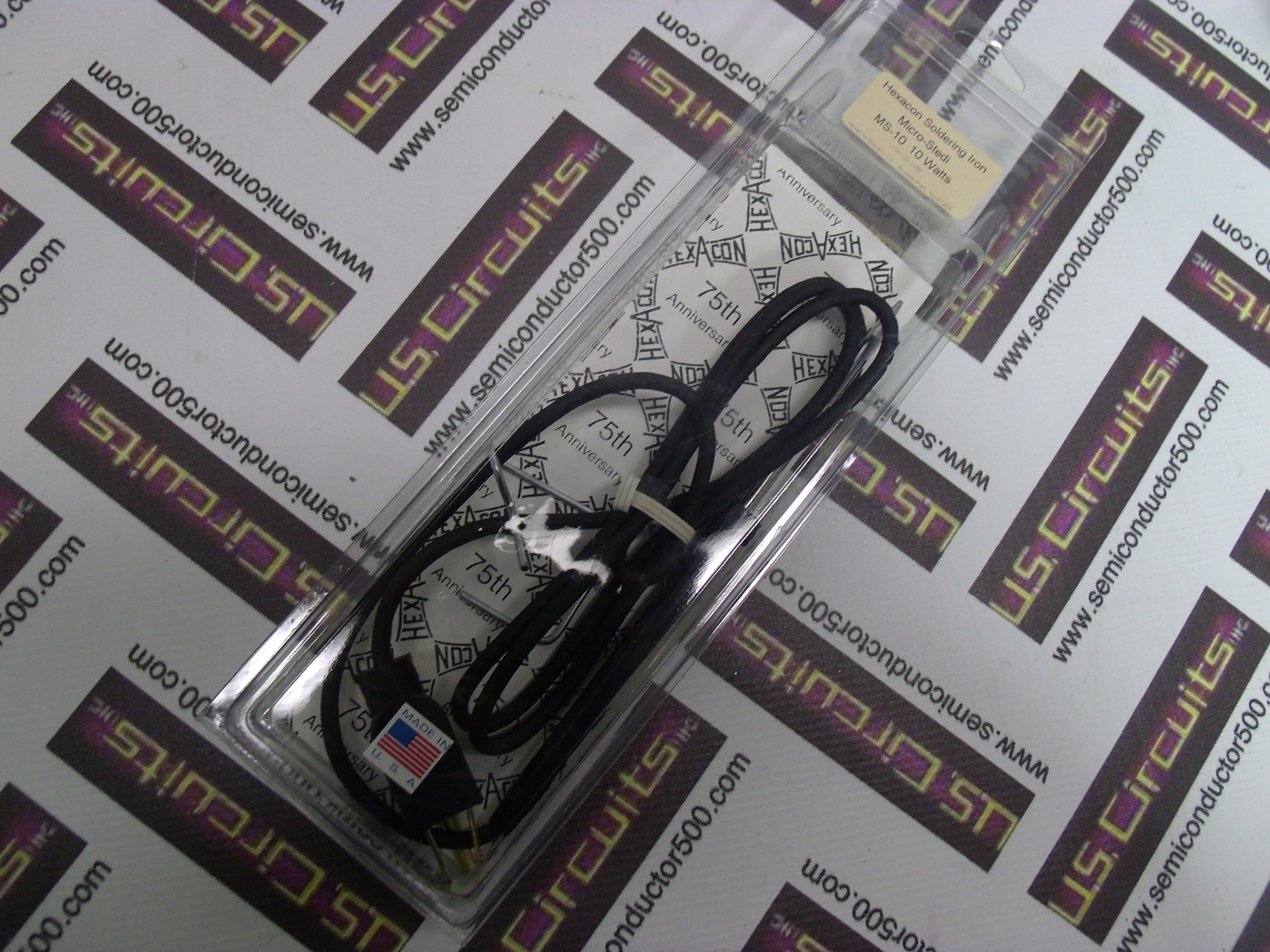 Hexacon Soldering Iron Micro-Stedi MS-10 10W 110-120V MADE IN THE USA. by Hexacon