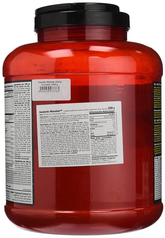 Amix Nutrition Anabolic Masster Proteínas y Carbohidratos, 2,2 Kg, Fresa: Amazon.es: Salud y cuidado personal