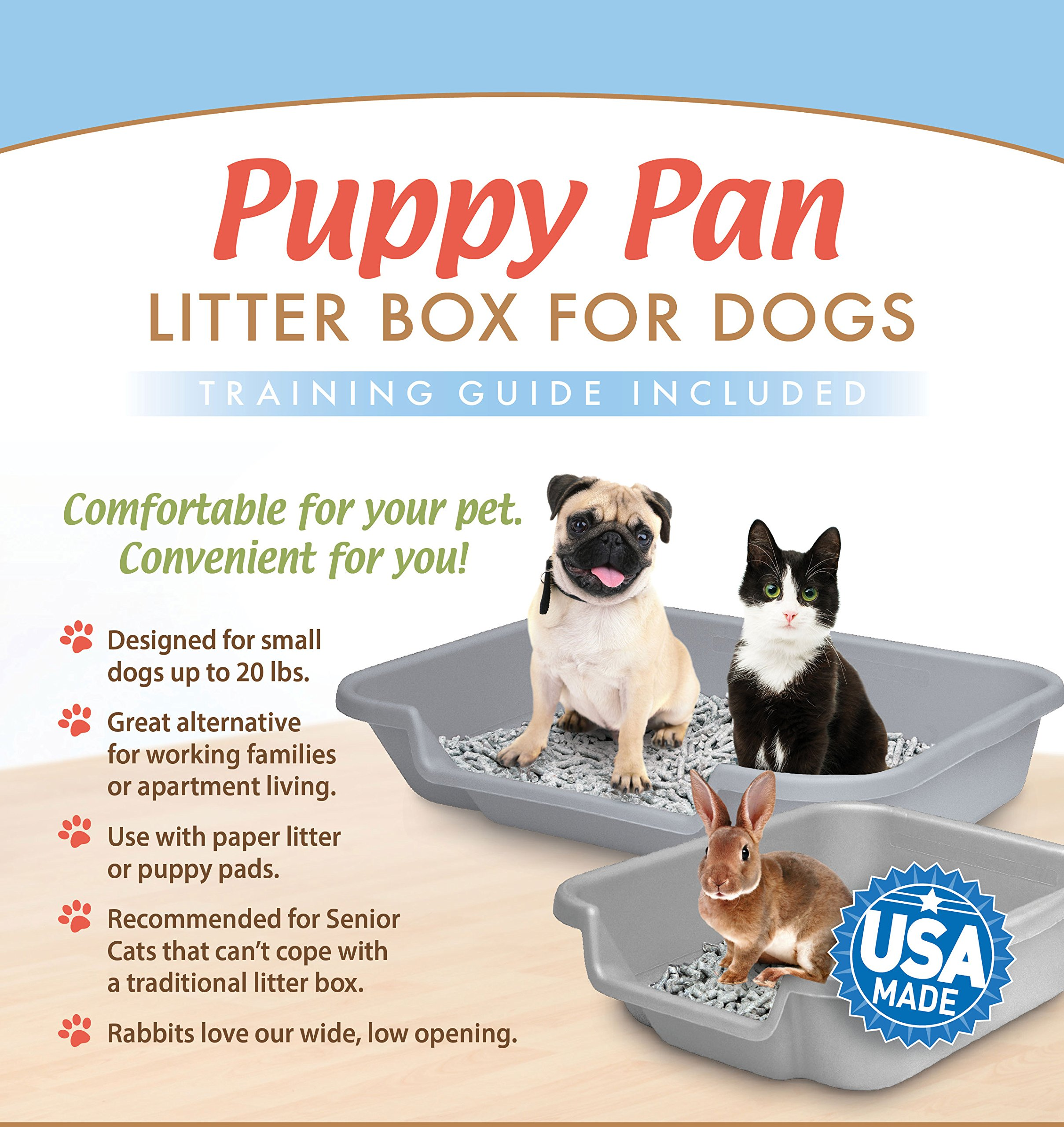 Dog Litter Pan And Puppy Pad Holder Recycled Gray Color