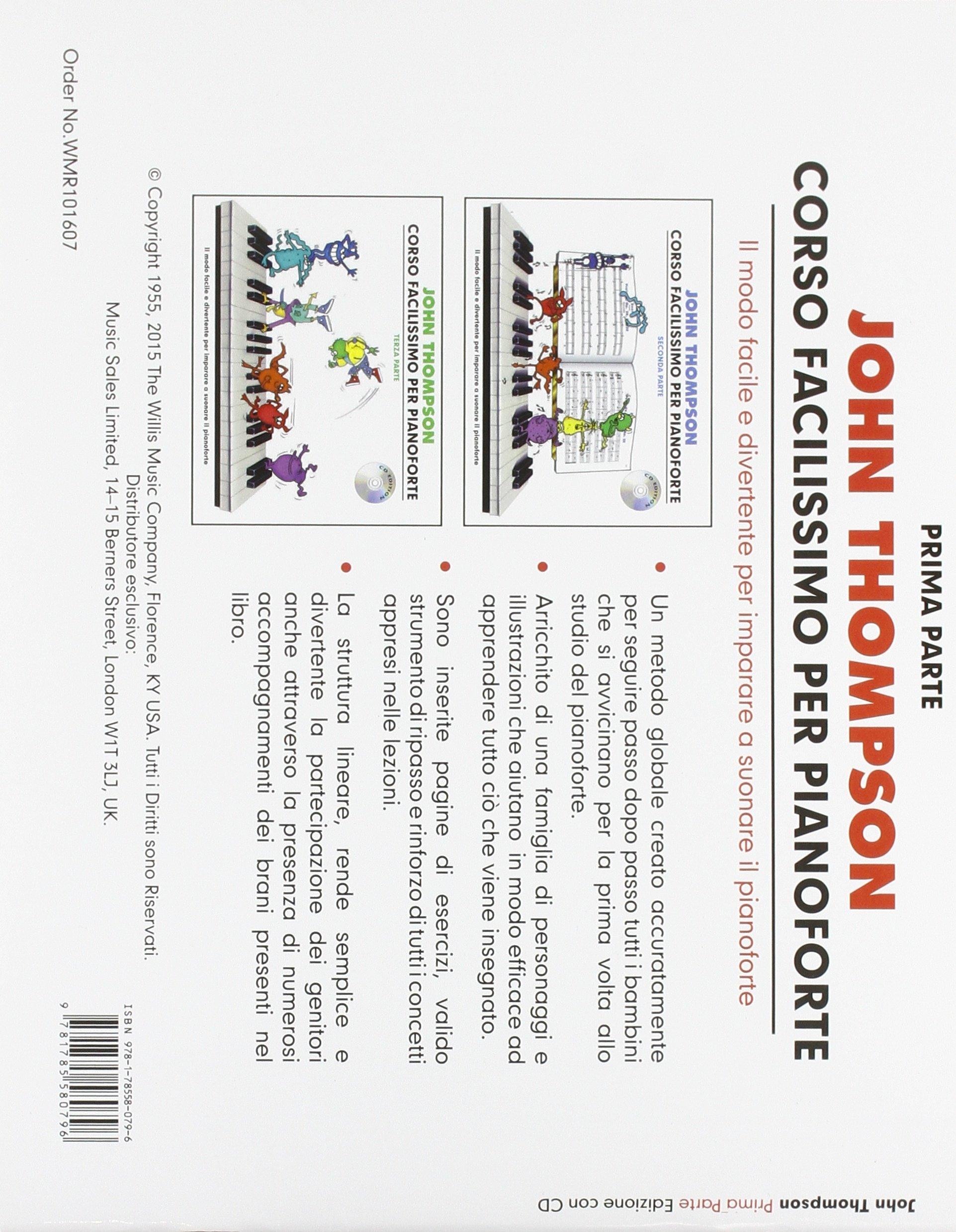 Parte Prima Con CD John Thompson Corso Facilissimo di Pianoforte