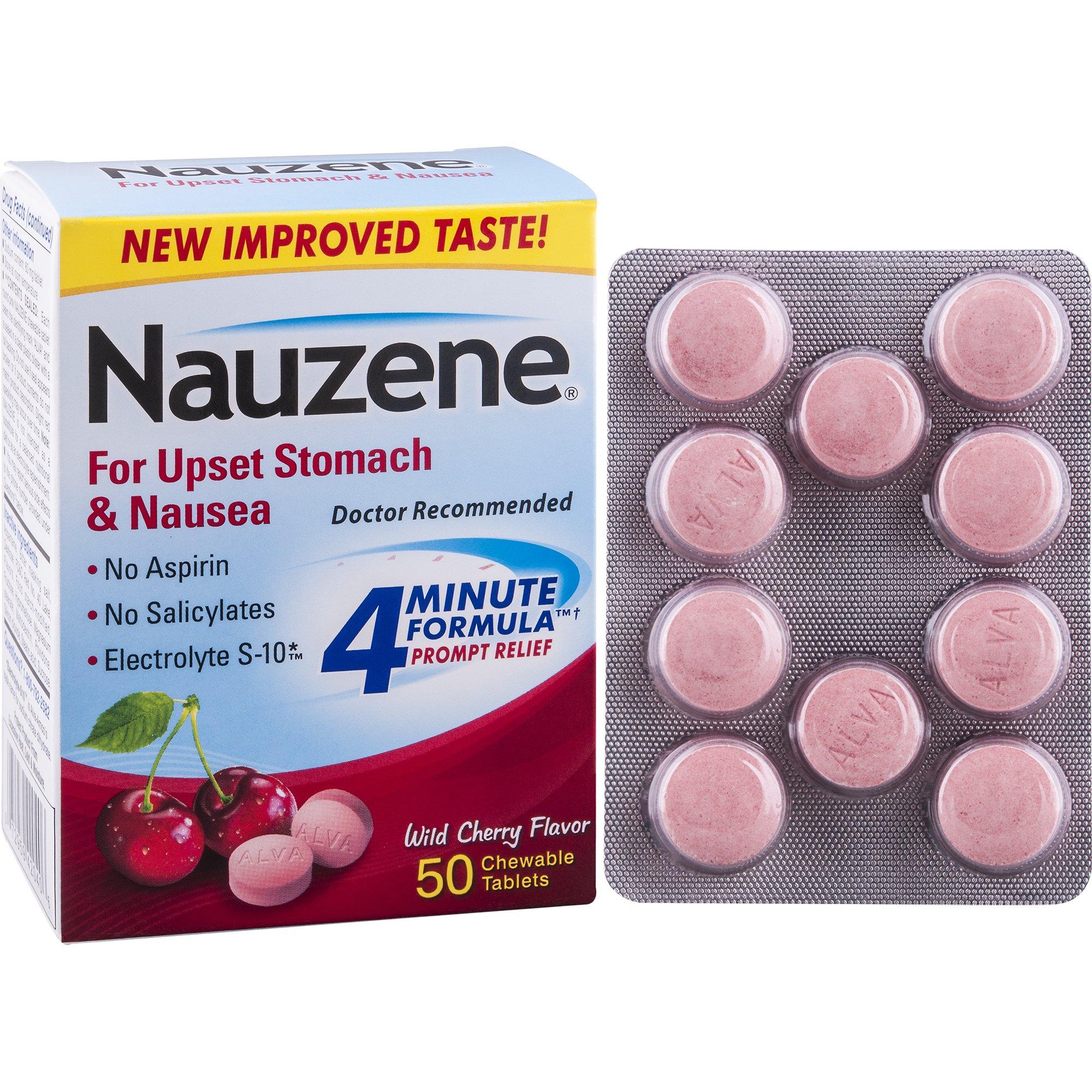 Nauzene For Nausea Chewable Tablets, Wild Cherry, 50 Count by Nauzene (Image #3)