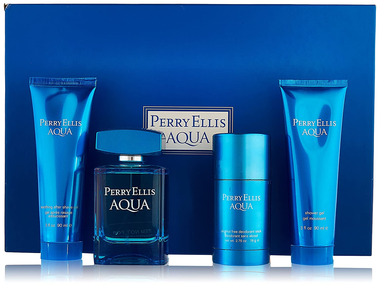Perry Ellis Aqua Perry Ellis Men Gift Set (Eau de Toilette, After Shave Gel, Shower Gel, Deodorant) M-GS-2594