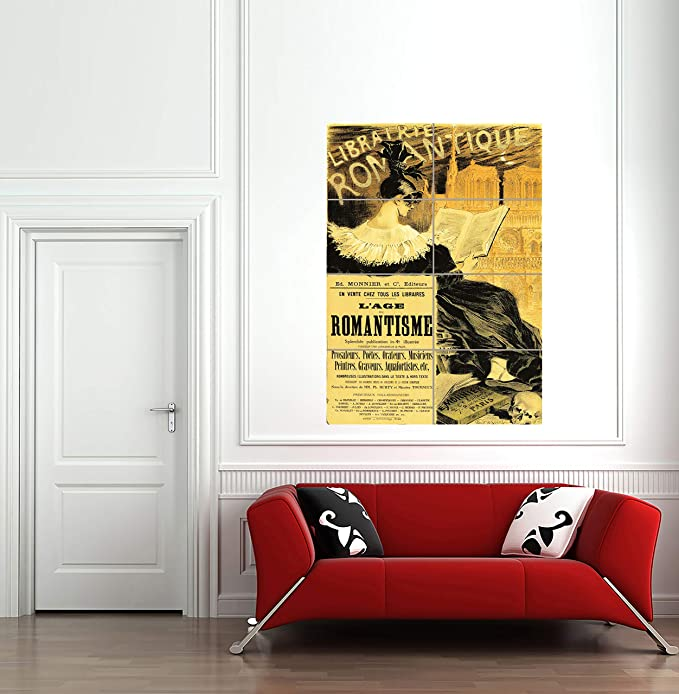 Librairie Romantique Art Print Home Decor Wall Art Poster C