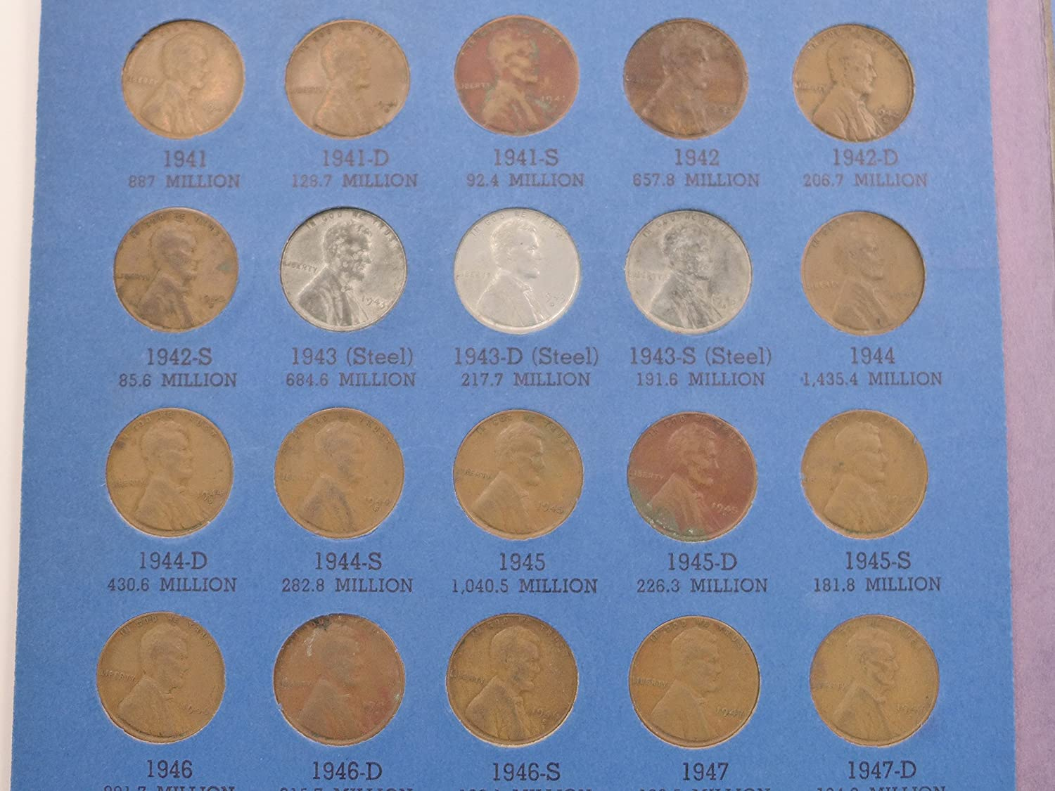 1941-P Roll of 50 Lincoln Cents ALL Average Circulated