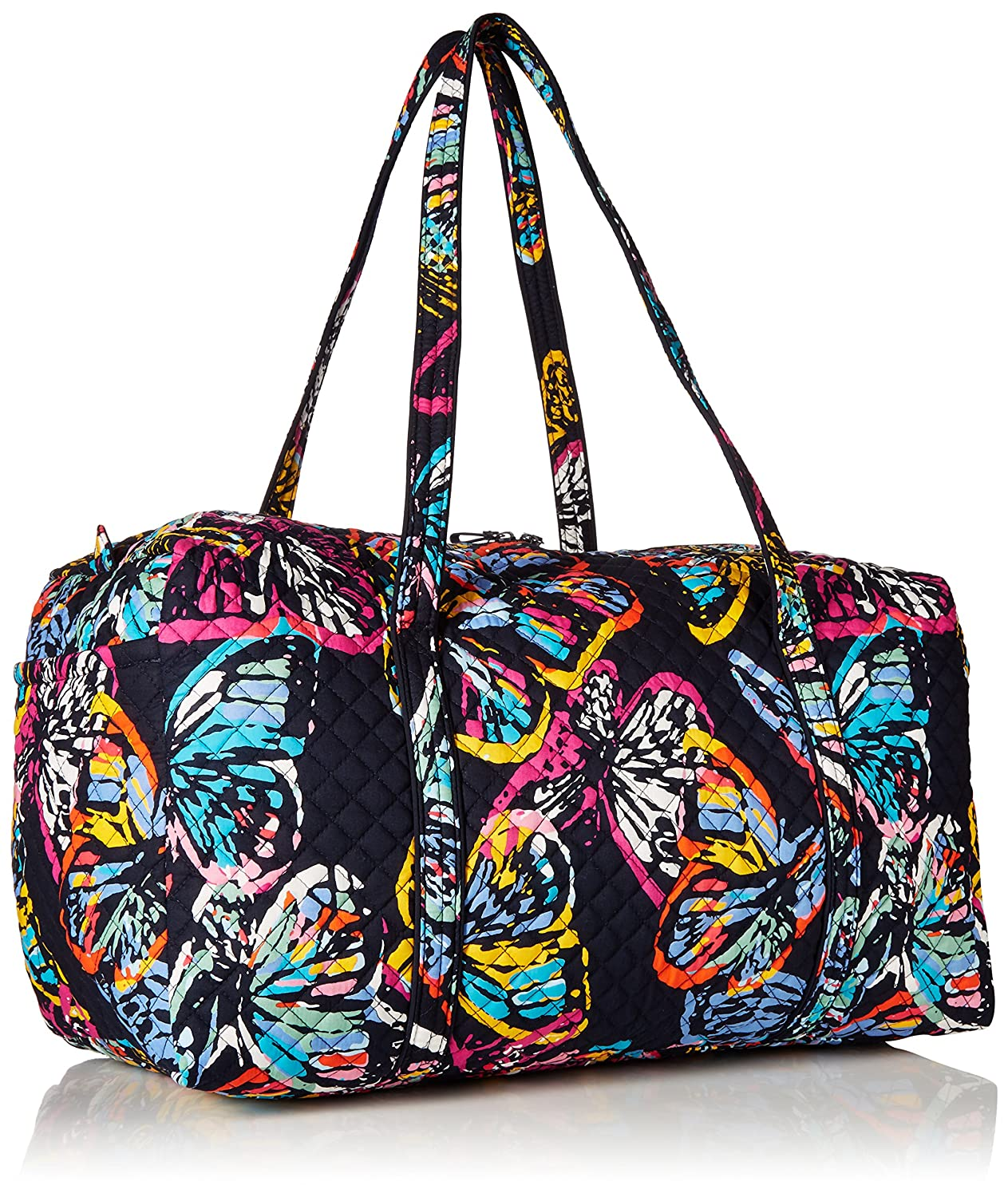 15737cdea Amazon.com: Vera Bradley Iconic Large Travel Duffel, Signature Cotton,  Butterfly Flutter, butterfly flutter, One Size: Clothing