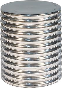 Sarreid Ltd Sarried Bench, Silver