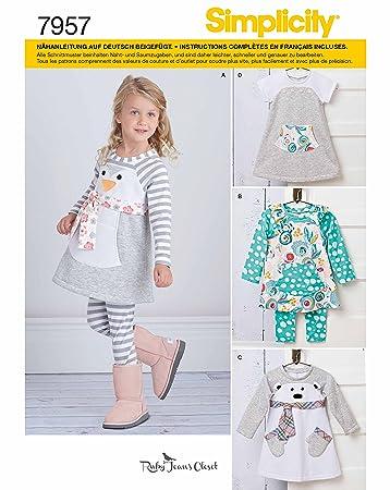 Simplicity 7957.A Schnittmuster Pyjama (Baby, Gr. XS - XL): Amazon ...