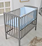 SPACE SAVER SMALL COT 4 BABY / + MATTRESS/ Grey / Little Cot / 100 x 52.5 CM /Perfect for Small Rooms …