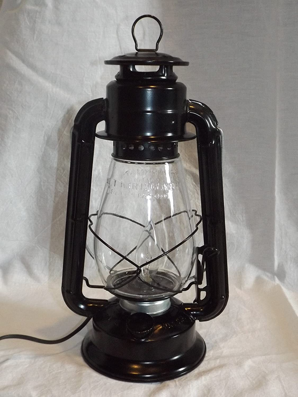 Dietz Junior Vintage Style Electric Lantern Table Lamp Black