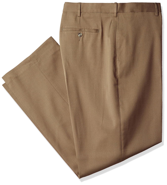 Savane Mens Big-Tall Big & Tall Flat Front Stretch Crosshatch Dress Pant Savane Men's Bottoms SWBS7076