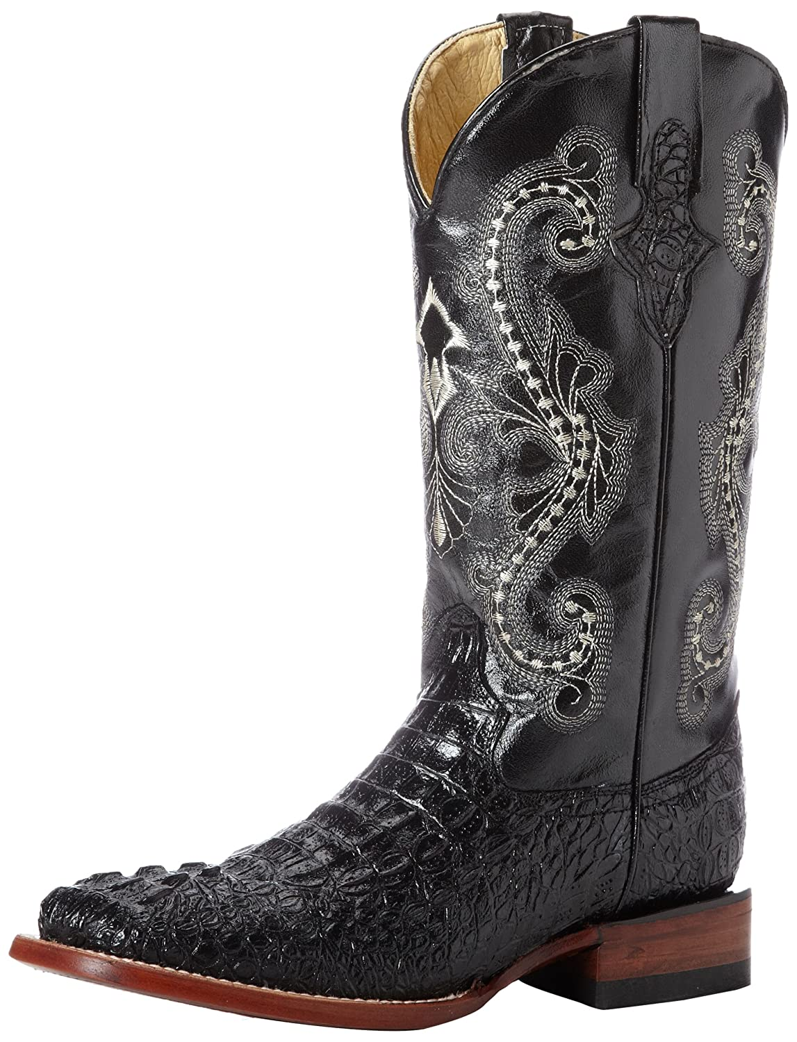 Ferrini Women's Print Crocodile S-Toe Western Boot B00D08KACW 9.5 B(M) US|Black