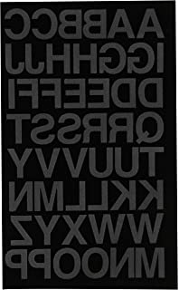 dritz iron on soft flock letters 1 inch block font black