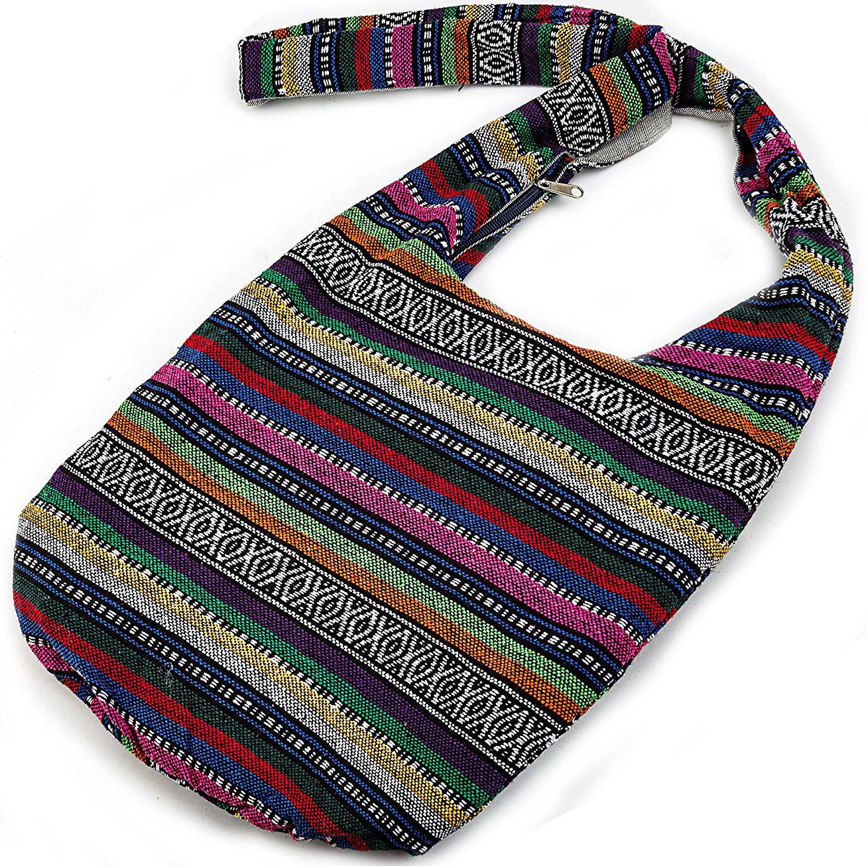 Witery Women's Sling Crossbody Bags Large Shoulder Shopping Hobo Bag Handbag Top Zip Bags Handmade Messenger Bag Wallet by Witery (Image #3)