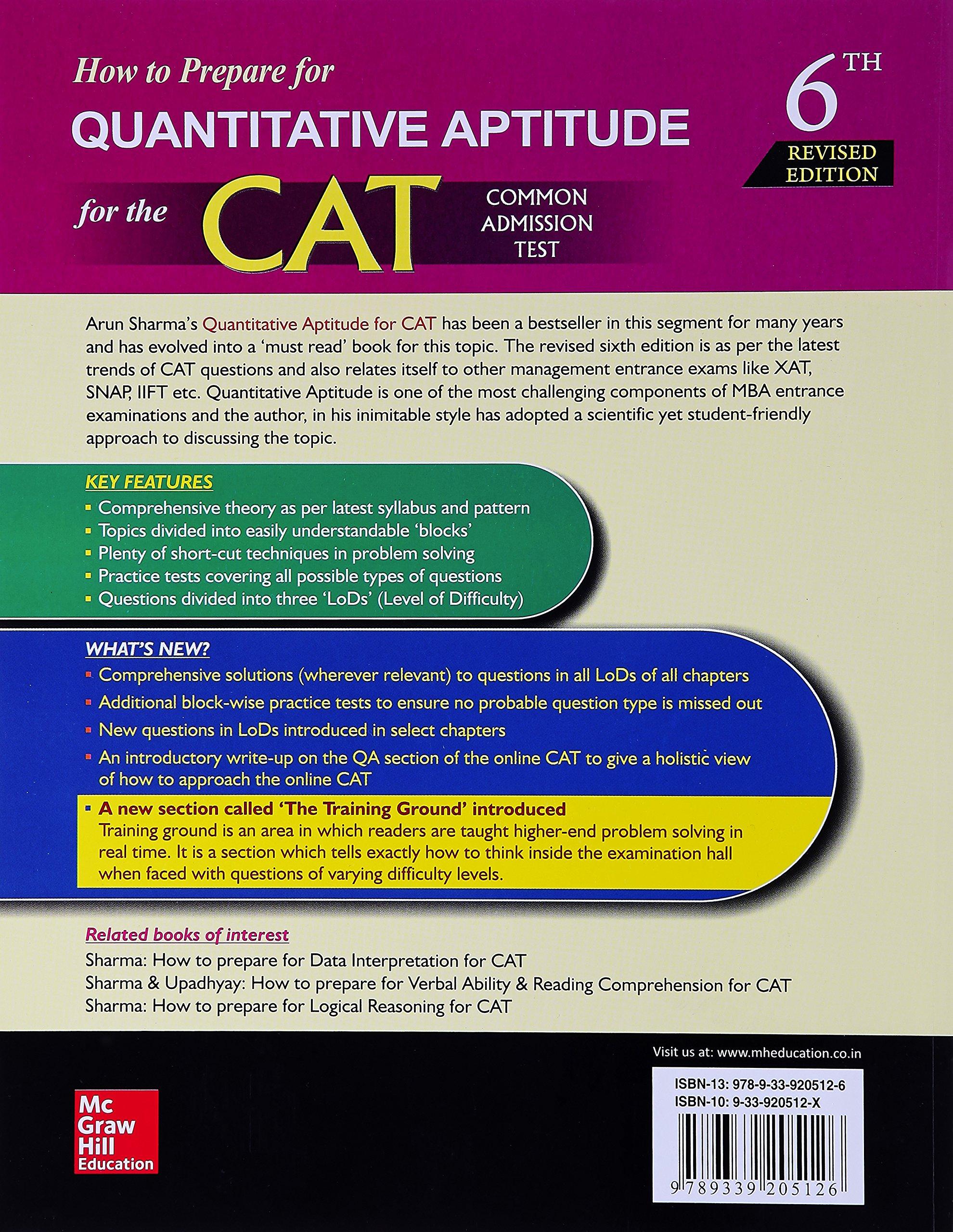 Cat aptitude books pdf for
