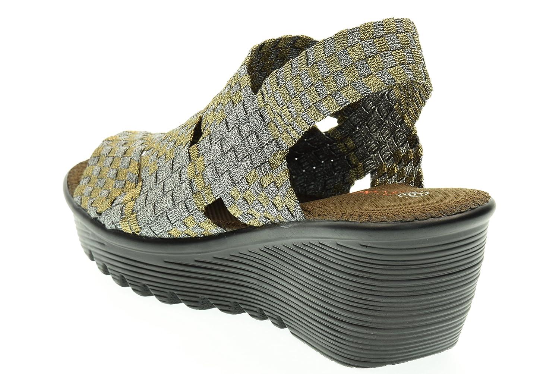 Bernie Con Nivel De Cuña Sandalias Zapatos Bm Mujer Bronce Mev OukZPiX
