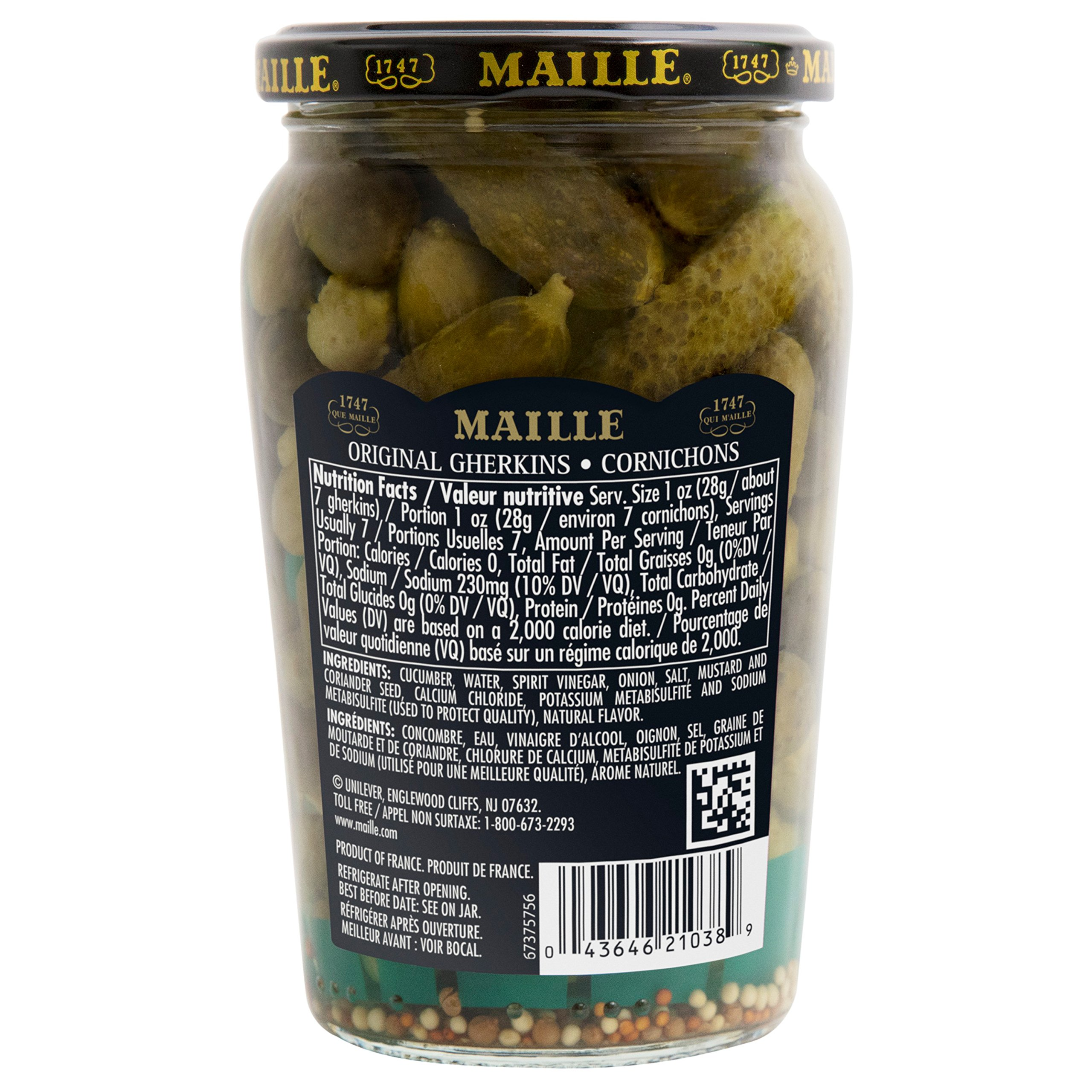 Maille Pickles, Cornichons Original, 13.5 oz, Pack of 12 by Maille (Image #2)