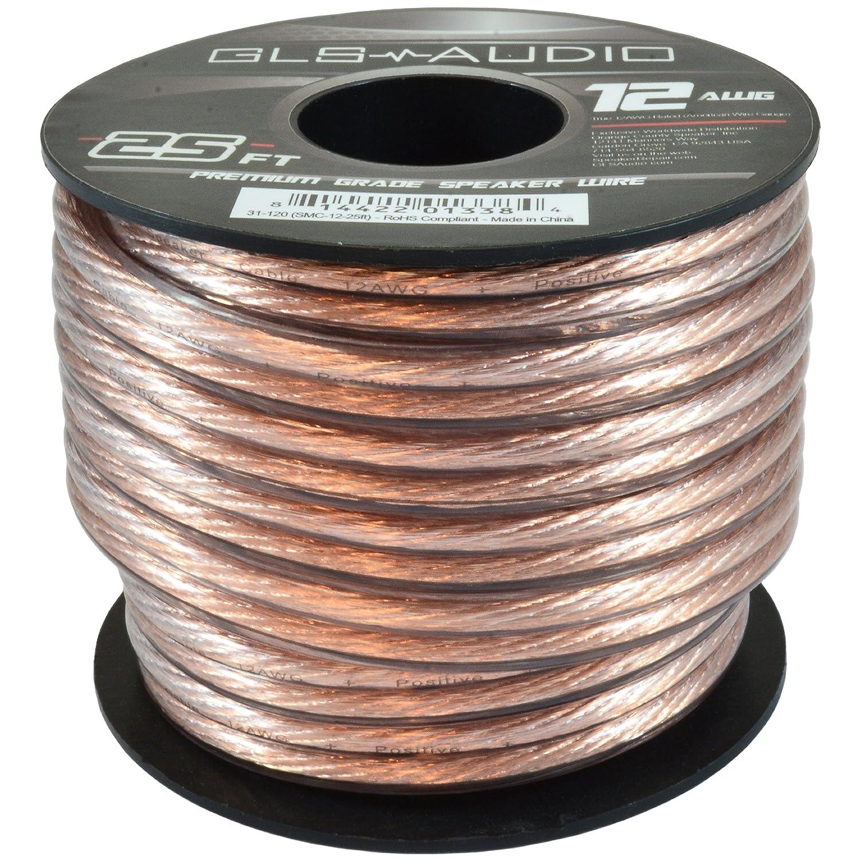 Amazon.com: GLS Audio Premium 12 Gauge 25 Feet Speaker Wire - True ...