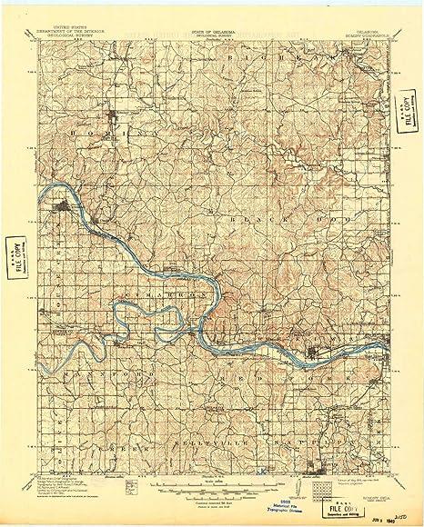Amazon.com: YellowMaps Hominy OK topo map, 1:125000 Scale ...