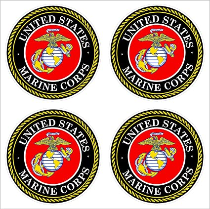 U.S. Marine Corps Car Decal Sticker (4) 2""