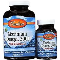 Carlson - Maximum Omega 2000, 2000 mg Omega-3 Fatty Acids Including EPA and DHA,...