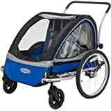 InStep Rocket 11 Bicycle Trailer, Blue/Black,Blue/Grey