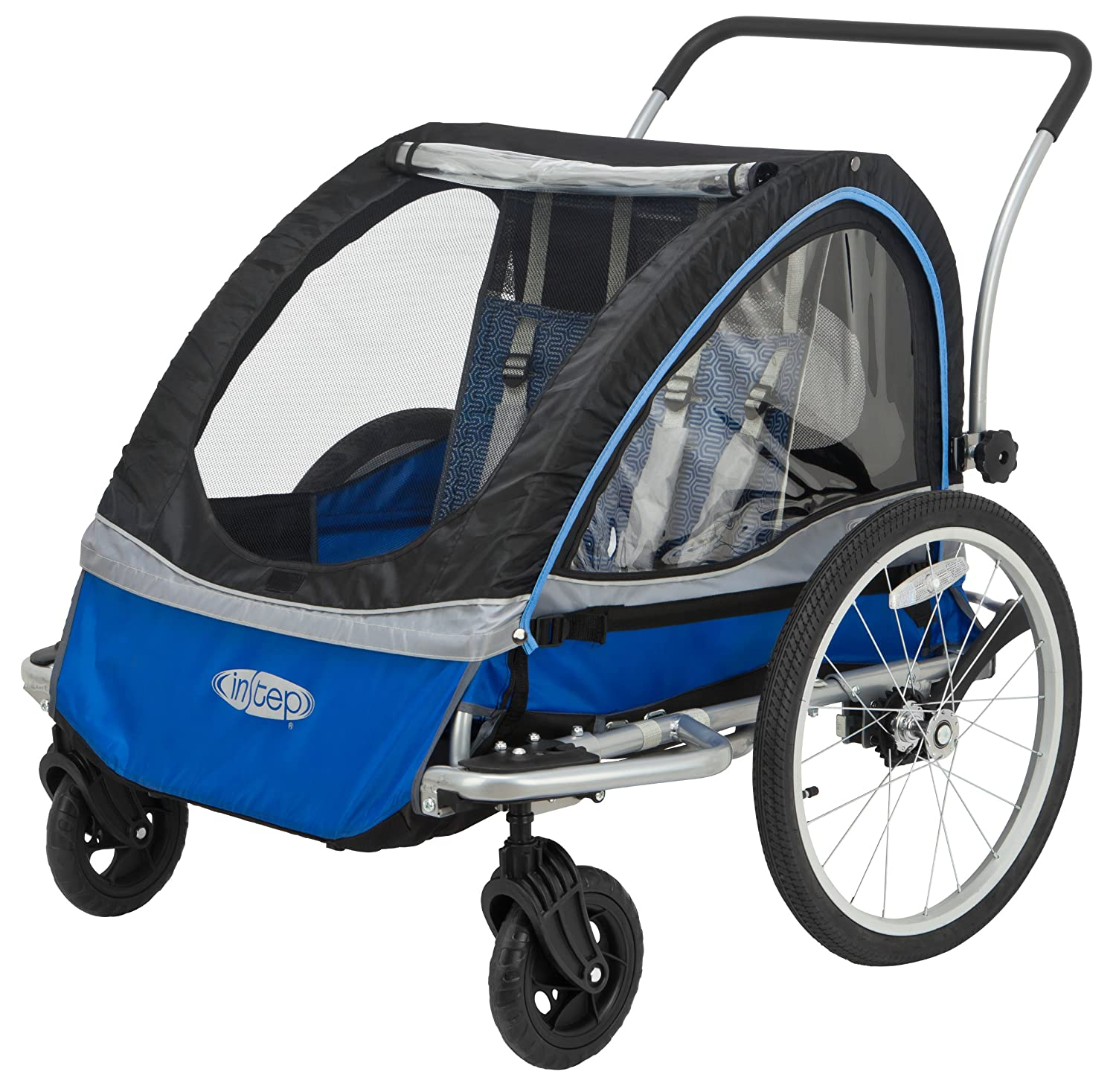 Amazon.com : InStep Rocket 11 Bicycle Trailer, Blue/Black, Blue ...