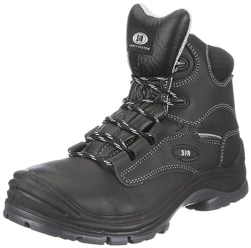 Safety - Calzado de protección de cuero para hombre, color negro, talla 39