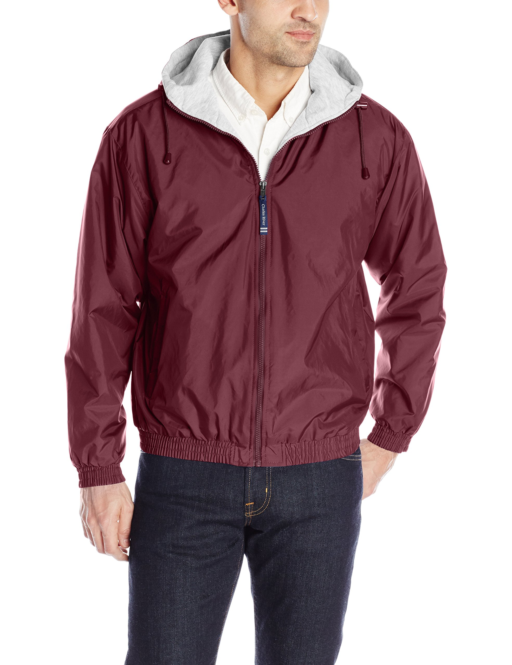 The ''Performer Collection'' Performer Nylon Jacket from Charles River Apparel,030 Maroon,Adult Large by Charles River Apparel