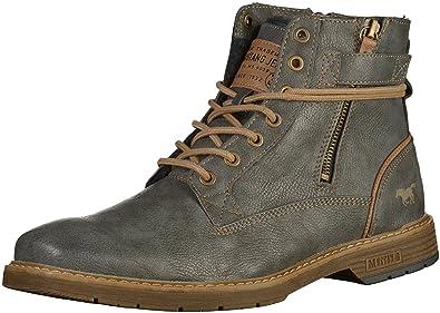 Mustang Herren Stiefel gefüttert Grau, Schuhgröße:EUR 45