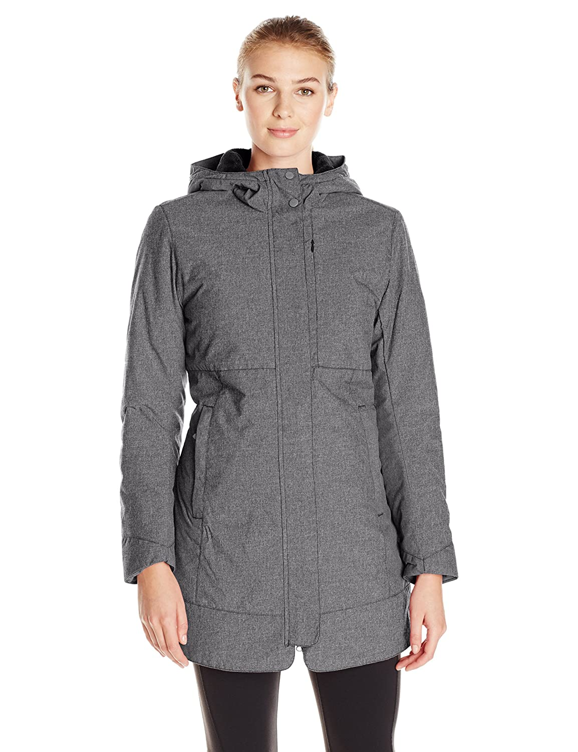 Black White Sierra Women's Sugarloaf Insulated Long Jacket