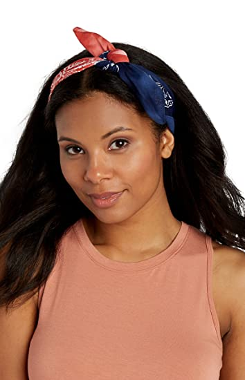maurices Women s Bandana Headwrap in Red and Blue Misc Red Blue at Amazon  Women s Clothing store  9d0737776